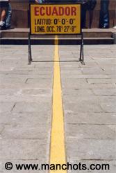 La ligne de l'Equateur (Equateur)