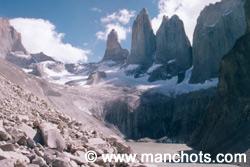 Trois piliers de granit - Torres del Paine (Chili)