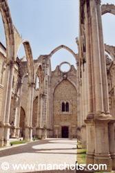 Convento do Carmo, détruit par un séisme - Lisbonne (Portugal)