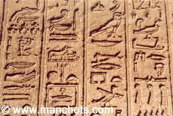 Hiéroglyphes - Denderah (Egypte)