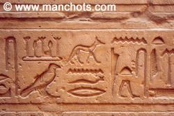 Hiéroglyphes - Edfou (Egypte)