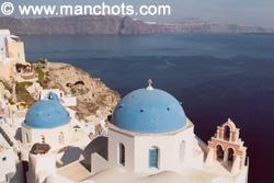 Coupoles et clochers, Oia - île Santorin (Grèce)